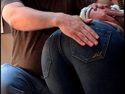 Tight jeans spank something is